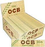 OCB SLIM feuilles de papier à cigarettes en chanvre biologique - Lot de 50 paquets de 32