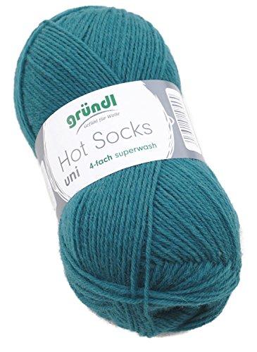 Preisvergleich Produktbild Gründl Hot Socks Sockenwolle grün, Farbe 44, Strumpfwolle, Wolle zum Socken stricken, Sockenwolle Herren