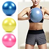 Latinaric 20cm Mini Yoga Pilates Gym Ball Soft Anti-Burst PVC For Core Fitness Exercise Massage With Straw