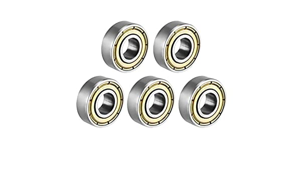 Pack of 20 6mm x 15mm x 5mm Carbon Steel Bearings uxcell/® 696ZZ Deep Groove Ball Bearing Double Shield 696-2Z 1080096
