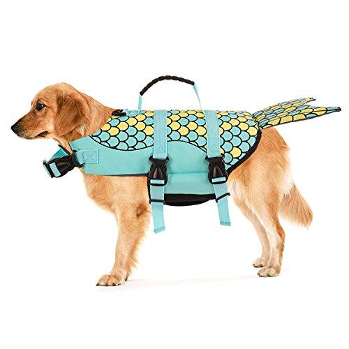 Hundeschwimmweste Rettungsweste Schwimmtraining für Hunde, Wassersport, Schwimmweste Sicherheitsweste Weste Hai,M