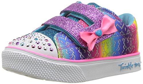 Skechers twinkle breeze 2.0-colour croc, sneaker bimba, (multicoloured), 21 eu