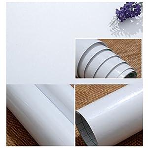 KINLO Adesivi carta per mobili 0.6M*5M(1 Rotolo) Bianco Nessuna ...