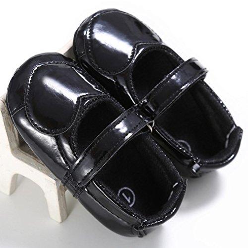 Culater® Culater® Ragazza del bambino Presepe dell'arco del fiore morbida suola antiscivolo Scarpe Sneakers Nero