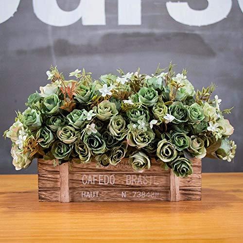 nzen Kunststoff Blumenkorb Topf Bonsai Blume Pflanze dekorativ, Wohnzimmer Heimtextilien, Büroraum Desktop-Dekoration liefert. Mischfarbe Hagebutte 30 * 14 * 15cm@Maroon ()