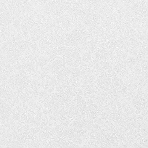 Jacquard-stoff-tasche (Fabulous Fabrics Futterstoff Jacquard Paisley - Weiss - Meterware ab 0,5m - zum Nähen von Futter, Abend- und Partymode und Businesskleidung)