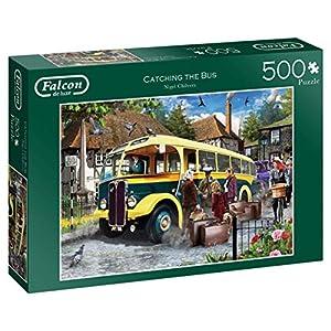 Jumbo Falcon de Luxe Catching The Bus 500 pcs Puzzle - Rompecabezas (Puzzle Rompecabezas, Vehículos, Adultos, Niño/niña, 12 año(s), Interior)