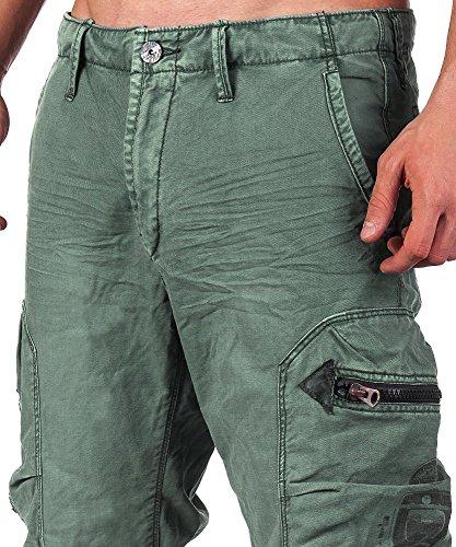 A jet pantalon pour homme gris 18 en yM - 30–42 avec poches latérales Vert - stormy sea