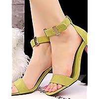 ShangYi Sandaletten für Damen Damenschuhe - Sandalen - Kleid - Kunstleder - Flacher Absatz - Komfort - Schwarz / Weiß / Orange , orange-us6.5-7 / eu37 / uk4.5-5 / cn37 , orange-us6.5-7 / eu37 / uk4.5-