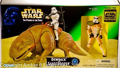 Star Wars - DEWBACK + SANDTROOPER - Beast Pack - The Power of The Force (POTF) - Kenner
