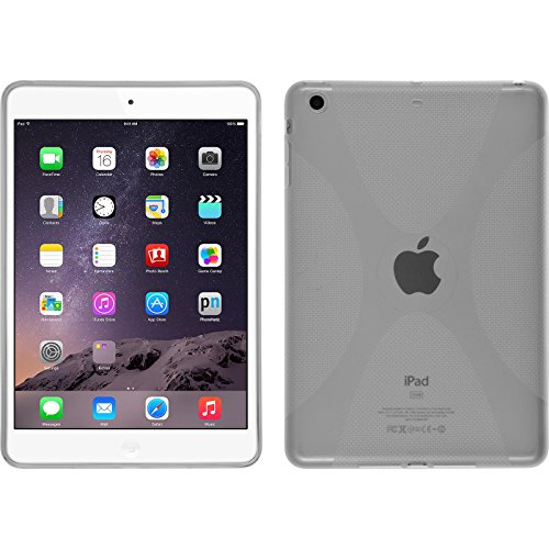 PhoneNatic Custodia per Apple iPad Mini 3 2 1 Cover trasparente X-Style iPad Mini 3 2 1 in silicone + pellicola protettiva