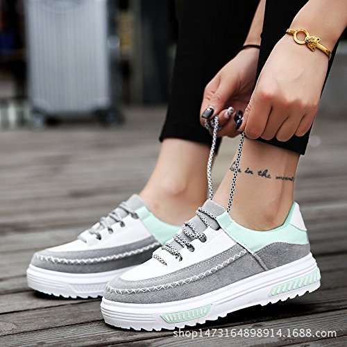 Frauen Sportschuhe Komfortschuhe neuen weichen Sohlen Laufschuhe niedrig zu helfen Grey