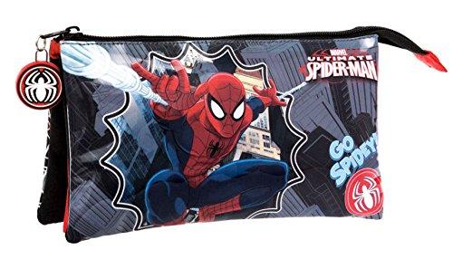 Spiderman–Estuche escolar Triple Spiderman Go Spidey vuelta al cole