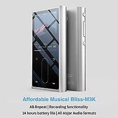 FiiO M3K HiFi Metal Shell Music Player with Digital Voice Recorder (Silver)