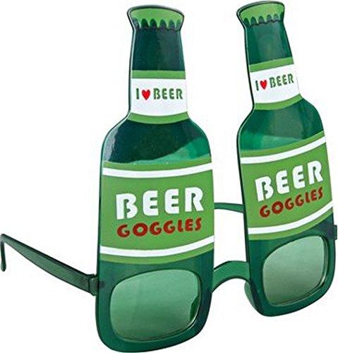 P'tit Clown 35101 - Gafas de plástico con Botella de Cerveza, Color Verde