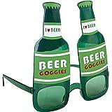Lunettes bouteille de biere vertes adulte