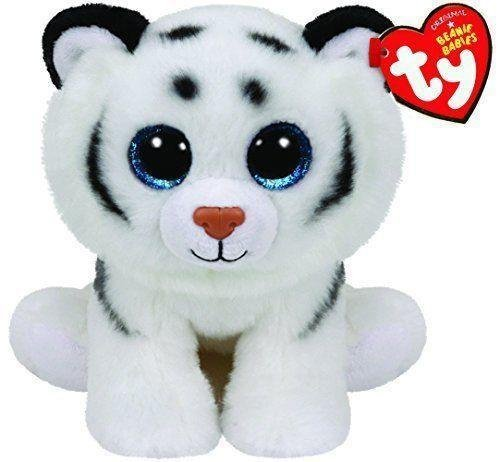 Ty Tundra White Tiger Beanie Babies Boos Stuffed Small 6 Plush Toy (New) by unbrand