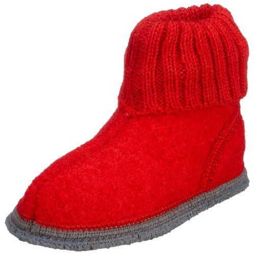 Kitz - Pichler Ötzi 27009, Pantofole unisex bambino rosso (Rot (2826 rubin))