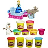 Play-Doh Sled Adventure Playset Featuring Disneys Frozen Elsa, Anna, Sven and Olaf Plus Extra Play-Doh 4-Pack of Colors Modeling Compound 20 Oz (Bundle of 2 Items) by Play-Doh