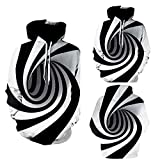Kapuzenpullover Sunnyadrain Herren Hoodie Vortex 3D-Muster Plus Größe Geschäft Pullover Winter Warm Sweatshirt Top Langarm