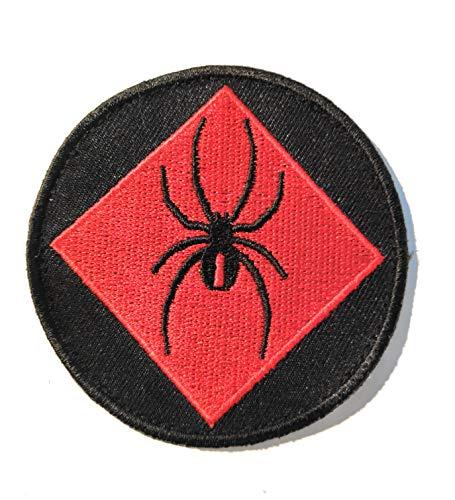 Applique Cap (Titan One Europe - Tactical Red Spider Cap Backpack Applique Patch Klettband Aufnäher)