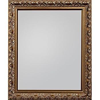 Frame Company Charleston Range Framed Mirror - Gold, 30x20-inches ...