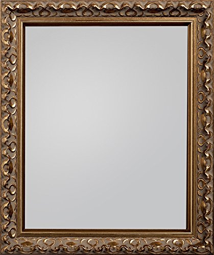 Espejo gama Charleston con marco en bronce Frame Company, 60,96 x 50,8 cm, madera, dorado, 60.96 x 50.8 x 2.3 cm