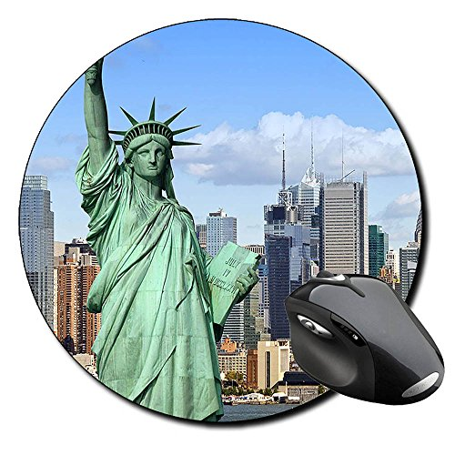 estatua-de-la-libertad-statue-of-liberty-nueva-york-new-york-city-ny-ein-rundes-mousepad-pc