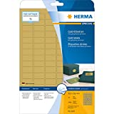 Herma 4100 Etiketten (A4 Folie glänzend, 30,5 x 16,9 mm) 2400 Stück gold