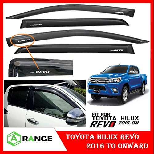 Toyota Hilux Revo Sonnenblende Sonnenblende Deflektor VENT Fensterfarbton 17 GUARD schwarz (Visier Toyota)