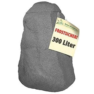 WINTER SCHLUß-VERKAUF:Regentonne Fels stein-grau 300l,FROSTSICHERES Regenfass mit Deckel und Wasserhahn DAS ORIGINAL!