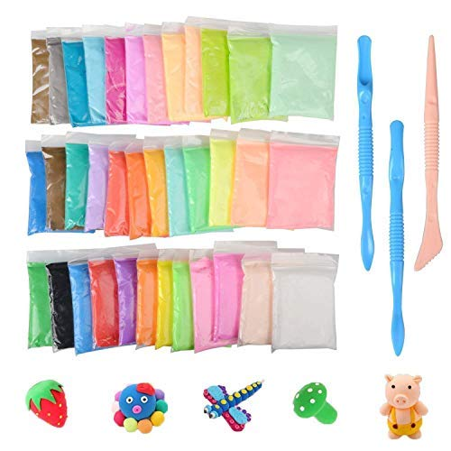 KidsHobby 36 Colores Slime Kit - DIY Arcilla Colorida de...