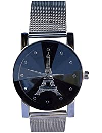 NEW ANALOG STYLISH BLACK DIAL SILVER STRAP WEN-LOG WATCH FOR GIRLS AND WOMEN NICE LOOKING FOR PARTY WITH THE BEST...