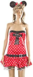 Carnaval, Women's Costume Minnie Mouse, Medium, Red/White