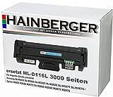 Hainberger XXL Toner für Samsung MLT-D116L 3000 Seiten passend in Samsung SL-M2625 SL-M2626 SL-M2825 SL-M2826 SL-M2875 SL-M2876 / Xpress M2625 M2626 M2675 FN M2825 M2826 M2875 M2876 Drucker