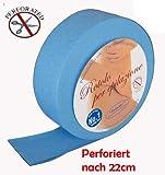 Vliesrolle Farbe Blau vor Perforiert 85mtr für die Enthaarung mit Warmwachs oder Zuckerwachs