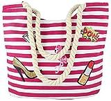 Sonia Originelli Patch Shopper 'Flamingo' Tasche Tragetasche Bag Farbe Pink