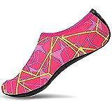 SITAILE Sommer Aqua Schuhe Barfuß Weich Wassersport Yoga Schuhe Strandschuhe Schwimmschuhe Surfschuhe für Damen Herren,rosa, Kinder,XL,EU31-33