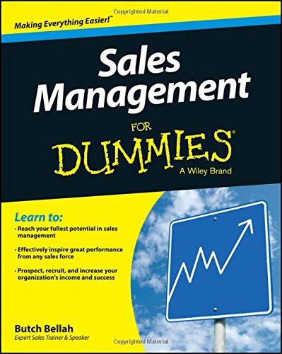 Sales Management For Dummies - Management Für Dummies
