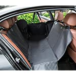 hantajanss Luxury Dog Seat Cover,Nonslip Waterproof Easy Cleaning Car Large Back Seat Pet Covers Hammock for Cars… 13