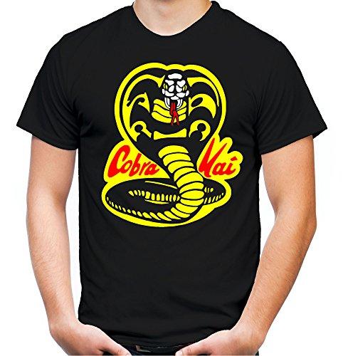Cobra Kai Männer und Herren T-Shirt | Spruch Dojo Karate Kid Geschenk | M1 (L, Schwarz) (Cobra Kai Kostüm Für Herren)