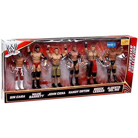 Mattel WWE Wrestling Exclusive Superstar Collection Action Figure 6-Pack Sin Cara, Wade Barrett, John Cena, Randy Orton, Brock Lesnar & Alberto Del Rio by WWE Exclusives by Mattel Toys