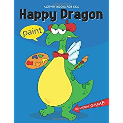 Happy Dragon: Activity and Coloring Book Educational Game for Kids