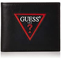 GUESS Men's Wallet with Coin Pocket, Black - 31GUE13144