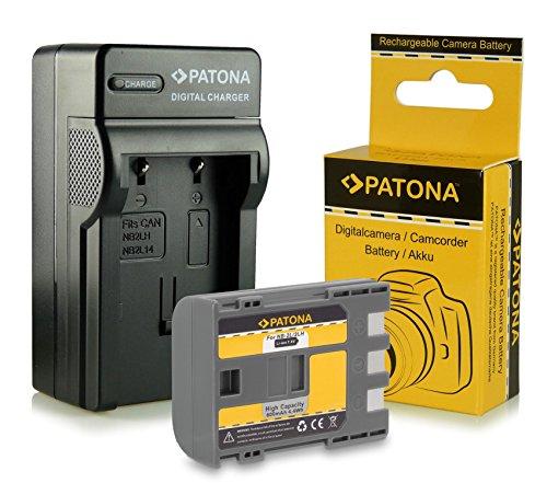 Caricabatteria + Batteria NB-2L / BP-2L5 per Canon PowerShot S30 | S40 | S45 | S50 | S60 | S70 | S80 | G7 | G9 | EOS 350D | EOS 400D - Camcorder MV800 | MV830 | MV830i | MV850i e più… Legria HF R16 | HF R17 | HF R18 | HF R106