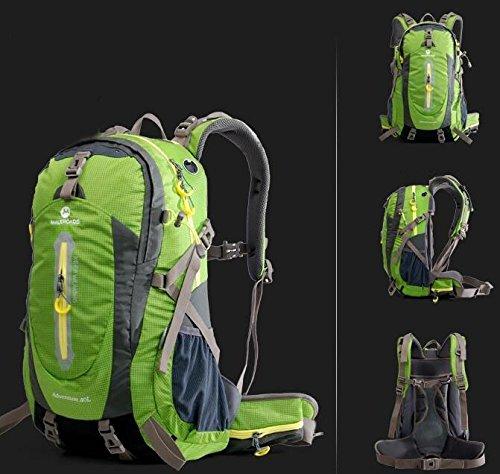 Outdoor uomini e donne Borse da viaggio Borse escursioni tracolla 40L50L ( Colore : Nero , dimensioni : 40L ) Verde