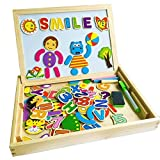6-lavagna-magnetica-lavagnette-in-legno-con-contenitore-90-pezzi-numerato-alfabeto-animali-facce-mag