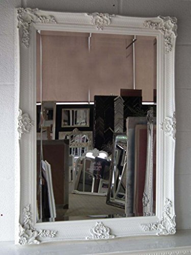 Abbey Baroque Style Rectangular Mirror In Cream