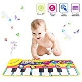 Piano Playmat, Kids Keyboard Music Playmat Toy, Funny Dancing Mat for Toddler Boys and Girls Gift (yellow)