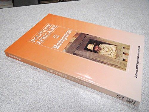 Politique Africaine N 52 - Madagascar - Editions Ambozontany et Karthala,1993